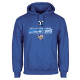 Royal Fleece Hoodie-Umass Boston 2017 2013 Mens Tennis Champs
