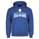 Royal Fleece Hoodie-2018 Womens Basketball Champions