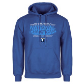 Royal Fleece Hoodie-2018 Womens Indoor Track and Field Champions - Brush