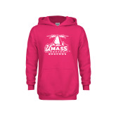 Youth Raspberry Fleece Hoodie-Primary Logo