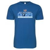 Next Level SoftStyle Royal T Shirt-2017 Volleyball Champs