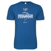 Next Level SoftStyle Royal T Shirt-Umass Boston Baseball Champs