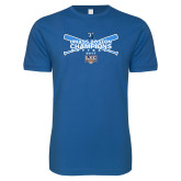 Next Level SoftStyle Royal T Shirt-Umass Boston Softball Champs