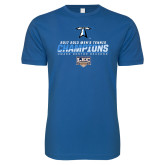 Next Level SoftStyle Royal T Shirt-Umass Boston 2017 2013 Mens Tennis Champs