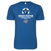 Next Level SoftStyle Royal T Shirt-Umass Boston 2012 Womens Soccer Champs
