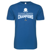 Next Level SoftStyle Royal T Shirt-2018 Womens Basketball Champions