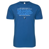 Next Level SoftStyle Royal T Shirt-2018 Womens Indoor Track and Field Champions - Brush