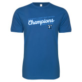 Next Level SoftStyle Royal T Shirt-2018 Womens Indoor Track and Field Champions - Script