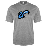 Performance Grey Heather Contender Tee-The U
