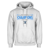 White Fleece Hoodie-2018 Womens Indoor Track and Field Champions - Box