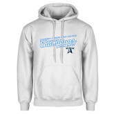 White Fleece Hoodie-2018 Womens Indoor Track and Field Champions - Script