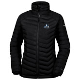 Columbia Powder Lite Ladies Black Jacket-Primary Logo