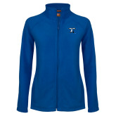Ladies Fleece Full Zip Royal Jacket-Lighthouse