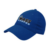Royal Twill Unstructured Low Profile Hat-UMass Boston Horizontal