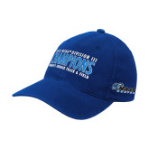 Royal OttoFlex Unstructured Low Profile Hat-2018 Womens Indoor Track and Field Champions - Script