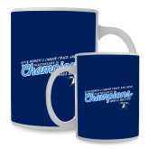 Full Color White Mug 15oz-2018 Womens Indoor Track and Field Champions - Script