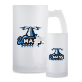 Full Color Decorative Frosted Glass Mug 16oz-Primary Logo