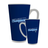 Full Color Latte Mug 17oz-2018 Womens Indoor Track and Field Champions - Script