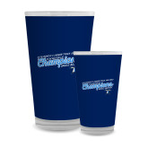 Full Color Glass 17oz-2018 Womens Indoor Track and Field Champions - Script