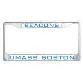 Metal License Plate Frame in Chrome-Beacons
