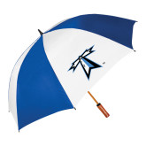 62 Inch Royal/White Vented Umbrella-Lighthouse