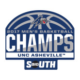 Medium Decal-2017 Mens Basketball Champions Half Ball, 8 in. wide
