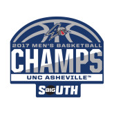 Small Decal-2017 Mens Basketball Champions Half Ball, 6 in. wide