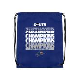 Nylon Royal Drawstring Backpack-2017 Womens Basketball Champions Repeating