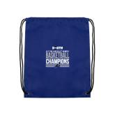 Nylon Royal Drawstring Backpack-2017 Womens Basketball Champions Stacked