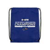 Royal Drawstring Backpack-2017 Womens Basketball Champions