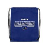 Nylon Royal Drawstring Backpack-2017 Womens Basketball Champions