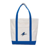 Contender White/Royal Canvas Tote-A