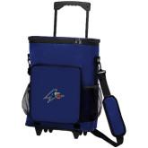 30 Can Blue Rolling Cooler Bag-A w/ Bulldog Head