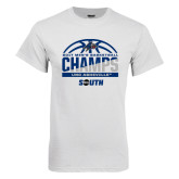 White T Shirt-2017 Mens Basketball Champions Half Ball