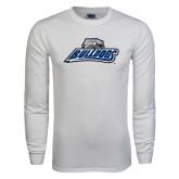 White Long Sleeve T Shirt-Bulldogs w/ Bulldog Head