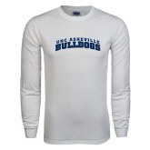 White Long Sleeve T Shirt-Arched UNC Asheville Bulldogs