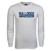 White Long Sleeve T Shirt-Bulldogs Basketball Bar