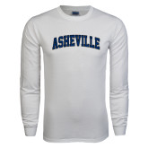 White Long Sleeve T Shirt-Asheville Arched