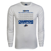 White Long Sleeve T Shirt-2017 Womens Basketball Champions Repeating