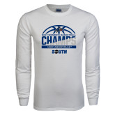 White Long Sleeve T Shirt-2017 Womens Basketball Champions Half Ball