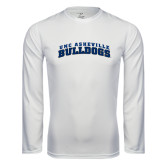 Performance White Longsleeve Shirt-Arched UNC Asheville Bulldogs