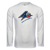 Performance White Longsleeve Shirt-Volleyball