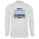 Syntrel Performance White Longsleeve Shirt-2017 Womens Basketball Champions Stacked