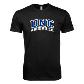 Next Level SoftStyle Black T Shirt-Arched UNC Asheville