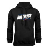 Black Fleece Hood-Slanted Bulldogs w/ Logo