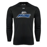 Under Armour Black Long Sleeve Tech Tee-Bulldogs w/ Bulldog Head