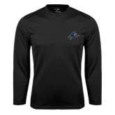 Performance Black Longsleeve Shirt-A w/ Bulldog Head