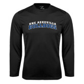 Performance Black Longsleeve Shirt-Arched UNC Asheville Bulldogs