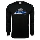 Black Long Sleeve TShirt-Bulldogs w/ Bulldog Head