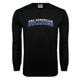 Black Long Sleeve TShirt-Arched UNC Asheville Bulldogs